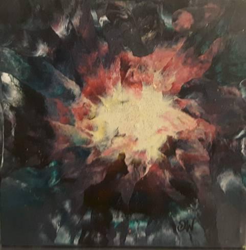 floral-2 25 x 25 cm acrylique