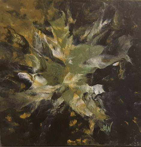 floral-1 25 x 25 cm acrylique
