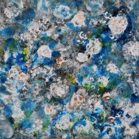 Oursins Acrylique sur toile 61cm x 61cm