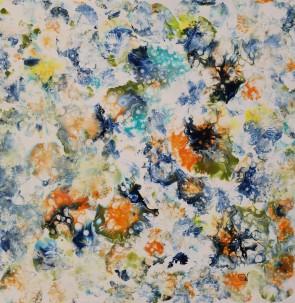 Papillonnerie Acrylique sur toile 61 x 61 cm