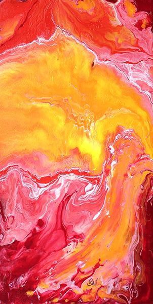 soleil 51 x 25 cm acrylique