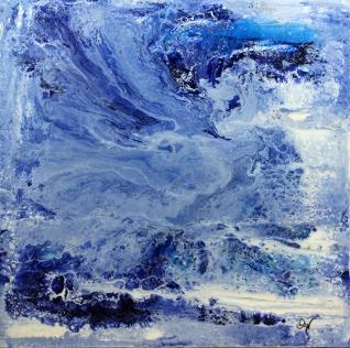 période bleue-2 61 x 61 cm acrylique