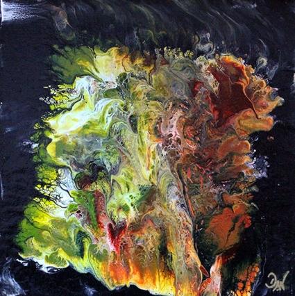 D4 25 x 25 cm acrylique