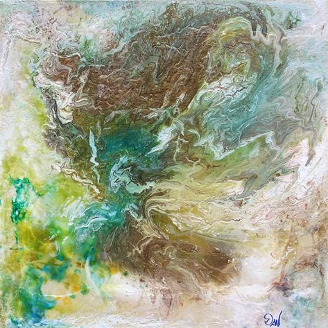 atmosphère 61 x 61 cm acrylique