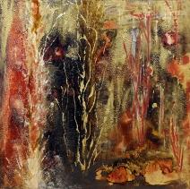 herbes d'eau 61 x 61 cm mix-média