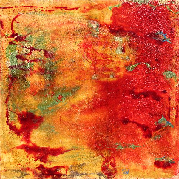 l'araignée rouge 61 x 61 cm acrylique