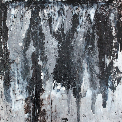 les glaciers-1 61 x 61 cm mix-média