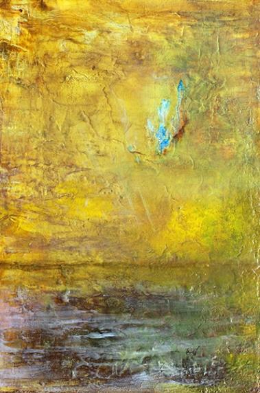 nature et sentiments 91 x 61 cm acrylique