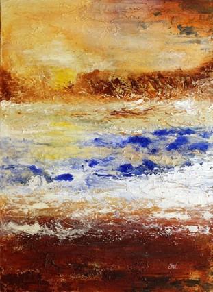 sable rouge 102 x 76 cm mix-média